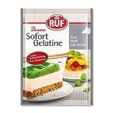 RUF Sofort-Gelatine Rind, Gelatine-Pulver kalt löslich, Speise-Gelatine ohne Einweichen und Erhitzen, Rinder-Gelatine zum Kochen und Backen, 30g, weiß