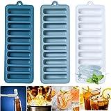 Crethink - Juego de 3 bandejas de cubitos de hielo de silicona para bebidas refrigeradas, whisky y cócteles de fácil liberación
