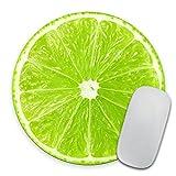 Lime Slice Mousepad, Tropical Mouse Pad, Fruit Mousepad, Vegan Mouse Pad, Cute Gift, Funny Gift, Food Mousepad