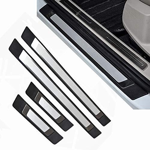 4-Türer-Set Edelstahl Auto Tür Schritt Platte Abdeckung Einstiegsleisten Schutzleisten Türschweller passend für Golf MK 7