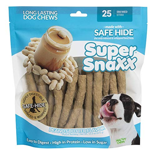 Wonder Snaxx Dog Chews, Peanut Butter Stixx, Bag of 25 Chews