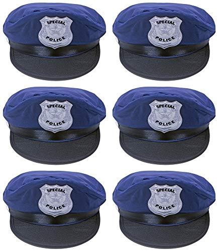 Kinder Special Police Mütze zum Polizisten Polizei Kostüm - 6er-Set