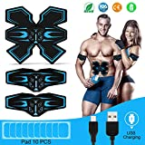 Abs Trainer, Tenswall EMS Muscle Stimulator, Ab Belt Toning with USB Rechargeable, Fitness Training Gym Workout Machine For Men & Women