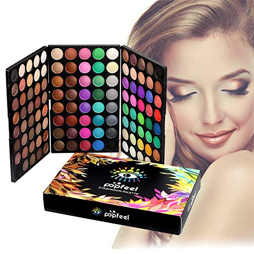 FantasyDay® 120 Farben Hochpigmentierte Warme Natürliche Matt Schminke Lidschatten Palette Makeup Kit - Augenschatten Eyeshadow Make Up Kosmetik Make-up Palette Schimmer Set - Ideales Geschenk