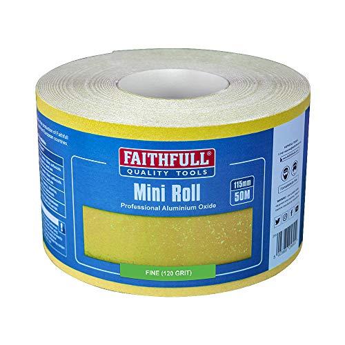Faithfull - Aluminium Oxid Papierrolle Gelb 115mm x 50m 120g - FAIAR115120Y