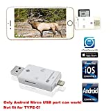 Hunting Trail Camera SD Card Reader, TUOP 3 in 1 Micro SD/TF/SD Card