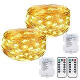 Kolpop Fairy Lights, 2 Pack 40ft 120 LED Fairy Lights with Remote 8