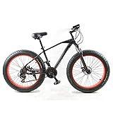 TTBOO GORTAT New Bicycle Mountain Bike 26 X 4.0 Fat Bike 24 speeds Fat Tire Snow Bicycles Man BMX MTB Road Bikes-Black red 24 Speed China