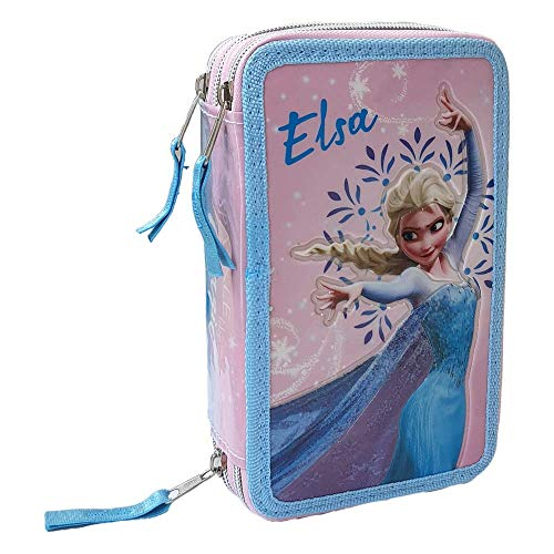 M.C. srl Astuccio Scuola 3D Frozen Disney Elsa MULTISCOMPARTO 3 Zip PORTACOLORI Fila Giotto - FR0472