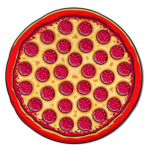 DAMAJIANGM Gigantic Pizza Hamburger Donut Slice Redonda Playa Piscina Toalla de Ducha Manta Multicolor