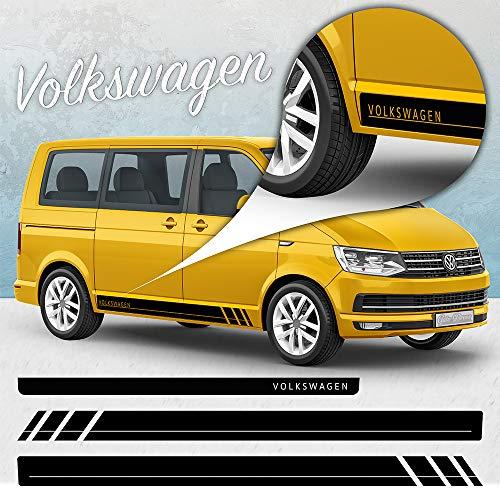 VW T4 T5 T6 EDITION LINIE Seiten Streifen Aufkleber Set Dekor-Sticker Bus 002