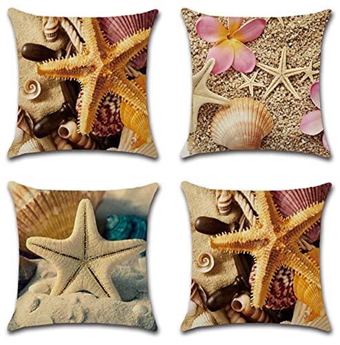 JOVEGSRVA Juego de 4 fundas de almohada decorativas de 45 cm x 45 cm, fundas de almohada para sala de estar, sofá, cama, fundas de almohada
