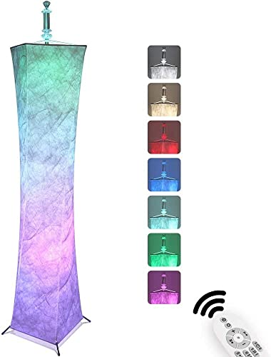 wholesale LCiWZ LED Floor Lamp with Remote Control RGB Color-Changing 59 in, Modern Floor Lamp Fabric Dimmable Suitable for Creating a Warm sale Family Atmosphere and a online Lively Party Atmosphere online sale