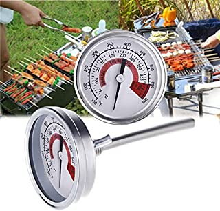 for Tang YI MING TL Stainless Steel Oven Thermometers BBQ Smoker Pit Grill Bimetallic Thermometer Temp Gauge Cooking Tools with Dual Display & Anti-Fog Glass Messgerät
