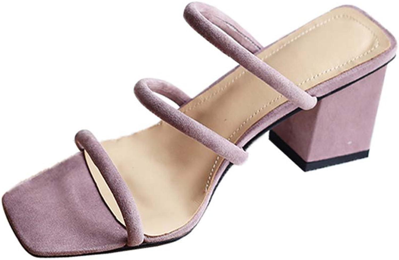 JIANXIN des Retro- Zehequadrat-Hohen Absatzes des Frauensommers Frauensommers Retro- Kühle Weiche Ferse der Weichen Ferse der Weichen Ferse des Weichen Weichen der Pantoffel  Sparen Sie bis zu 70% Rabatt
