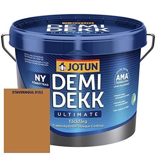 JOTUN DEMIDEKK ULTIMATE Täckfärg Holz-Farbe | Wetterschutz-Farbe | Holzschutz-Farbe | Absolute Premium-Qualität |3 Liter STAVERNGUL 0152