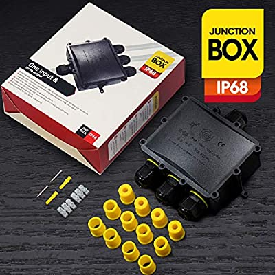 Outdoor Junction Box Waterproof Cable Connector IP68 External 4-Way for 4mm-14mm Cable