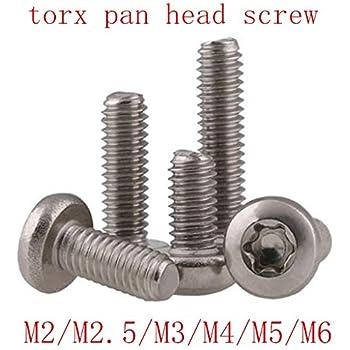 lente Tornillos de cabeza con Brida alomado ISR 10/unidades ISO 7380/  Torx inoxidable muesca redonda Tornillos de cabeza plana opiol Quality