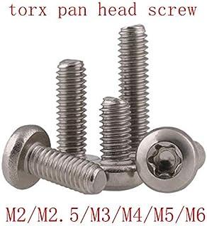 Color : 20mm, Size : M3 50PCS Panel Screws Torx pan round head screw GB2672 SUS304 M2 M2.5 M3 M4 M5 M6 six lobe 304 stainless steel pan head torx machine security screw Nails Fasteners