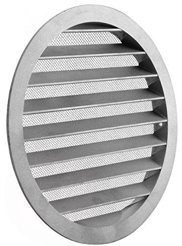 MKK - 10817-009 - Lüftungsgitter Wickelfalzrohr Abluftgitter Insektennetz Aluminium Rund Gitter Ø 400 mm