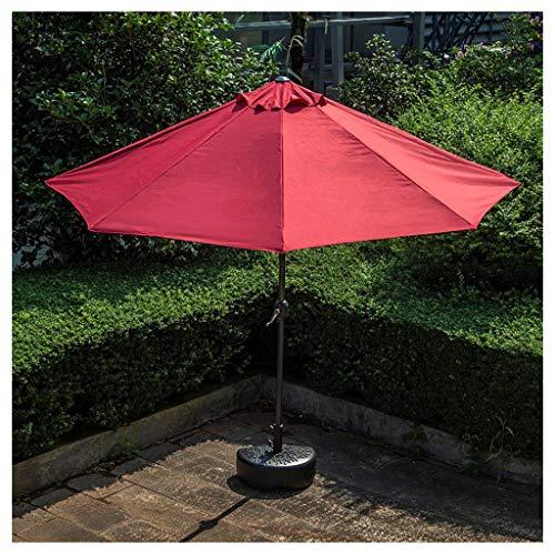 YDDZ Semi-ombrellone da Terrazza Ombrellone da Esterno Robusto e Durevole con Funzione Anti Raggi Ultravioletti Superficie Dell'ombrellone in Fibra di Poliestere Sole e Pioggia (Senza Base)