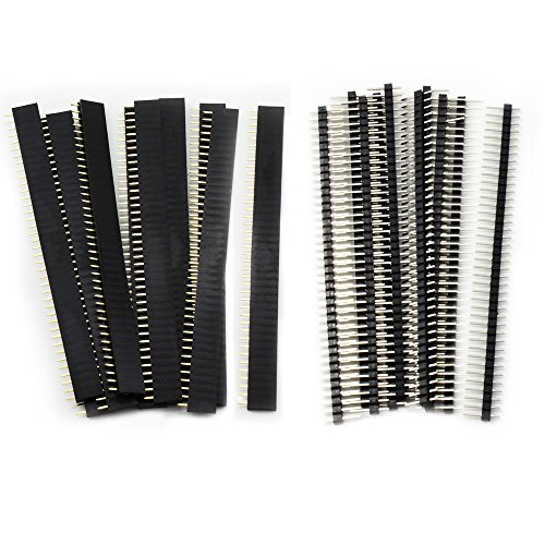 20PCS 2.54mm Breakaway PCB Board 40Pin Male and Female Header Connector for Arduino Shield