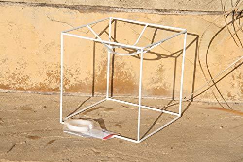 Lampenschirm-Gestell, Quadrat, 15 cm / 15x15 cm, weiss