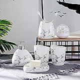 PiniceCore 6pcs / Set cerámicas de mármol Accesorios de baño Conjunto dispensador de jabón/Cepillo de Dientes Titular/Vaso/Plato de jabón Productos de baño