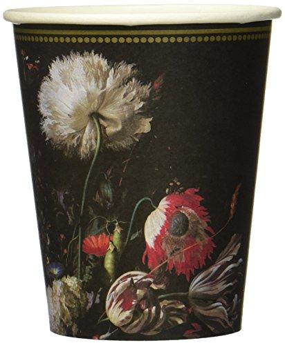 Talking Tables Party Porzellan Barock Pappen Tasse 12Pk, mehrfarben, 0.08 x 8 x 4.85 cm