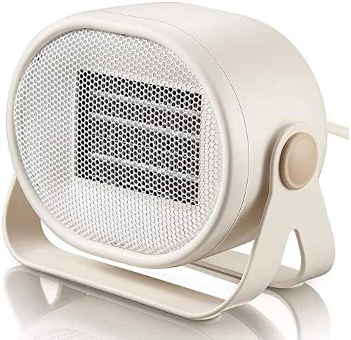 Mini Space Heater 500W PTC-Heizelement schwer entflammbares Material Heizkörper Weich und Low Noise Doppeltemperaturregelung Luftwärmer