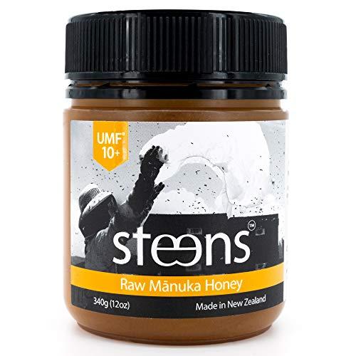Steens Miele Di Manuka UMF 10 (MGO 263) Integrale Crudo e Non Pastorizzato nuova zelanda Miele 340 Gram – Con Enzimi Naturali E La Beebread