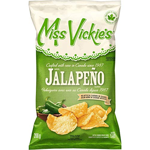 Miss Vickie's Kettle Cooked Jalapeno Potato Chips 200g/7.1 oz. {Imported from Canada}