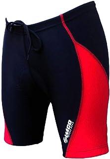 ZIMCO Women's Cycling Biking Cycle Short Bike Shorts Padded Black/Red (XL)