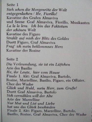 Heitere Oper: Rossini - Der Barbier von Sevilla (Opernquerschnitt), Erscheinungsjahr 1970 Staatskapelle Berlin, Dirigent: Otmar Suitner,