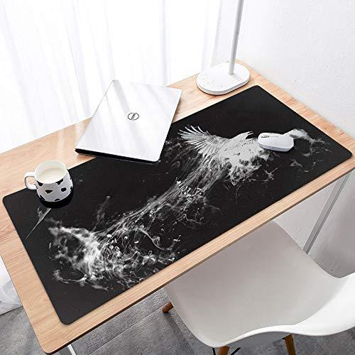 Computer Mouse Pad,Gaming Mouse Large Mat,Office Desk Mat,Desk Pad, Laptop Desk Mat,3D Fire Phoenix Pattern Large Desk Mats For Keyboard And Mouse Pad, Waterproof Surface, Responsive Desktop For Gam