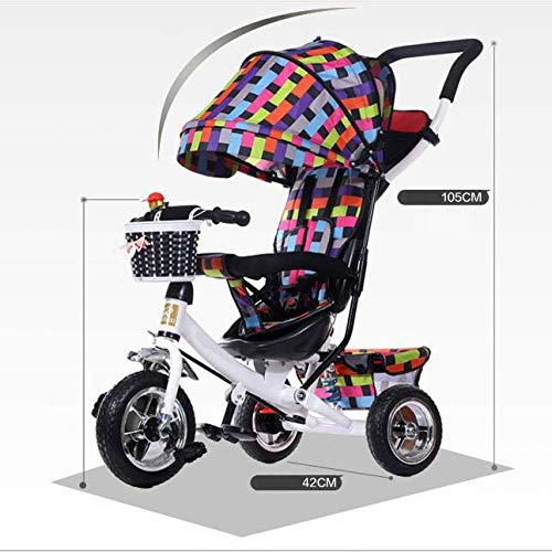 Fantastic Deal! Comfortable prams Toy Car Stroller High Landscape Tricycle Stroller 2-7 Years Old Po...