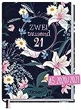 Chäff-Timer Classic A5 Kalender 2020/2021 [Dark Flower] Terminplaner 18 Monate: Juli 2020 bis Dez. 2021   Wochenkalender, Organizer, Terminkalender mit Wochenplaner - nachhaltig & klimaneutral