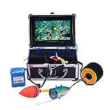 Cacoffay 7 Pulgadas LCD Monitor Pez Descubridor Portátil Impermeable Noche Visión HD 1000 TVL Pescar Cámara 15m Cable IR infrarrojo LED Ligero para Hielo, Lago y Bote Pescar