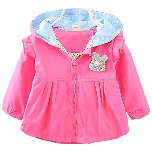 Bebone Baby Mädchen Übergangsjacke 1-3 Jahre Kinder Jacke (Pink, 6 Monate)