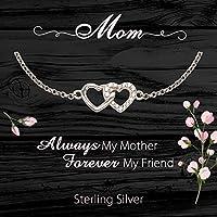 マザーネックレス - スターリングシルバー ジュエリー 新しいお母さん、ステップママ、母の日、誕生日プレゼント
