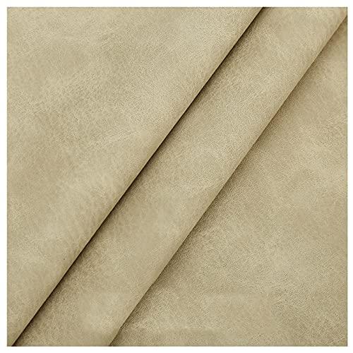 NIUFHW Beige Leatherette PU Cuero Lychee Pattern Tela 1.2mm Espesor Sofá Reparación Tela Decoración De La Pared Tela