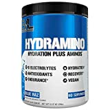 HYDRAMINO Complete Hydration Multiplier, All 6 Electrolytes, Vitamin C & B, Fluid Boosting Aminos, Coconut Water, Endurance & Recovery, Immunity Support, Antioxidants, 0 Sugar, 60 Serve, Blue Raz