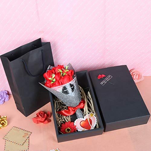 ELECTRI Cadeau Parfait Cadeau Fait Main de Bouquet de Fleurs de Savon pour l'anniversaire de la fête des mères Valentin