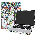 Alapmk Diseñado Especialmente La Funda Protectora de Cuero de PU para 14' Huawei Matebook 14 Ordenador portátil(Not fit Huawei Matebook X/Matebook D/Matebook X Pro),Love Tree