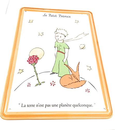 Editions Clouet, carte métal murale le petit prince echarpe