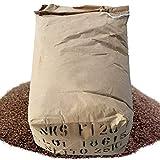 25kg de corindón de 46Mesh rojo-pardo no esférico, grano 0,355–0,425mm, abrasivo para lijado y raspado por chorro de arena. Duros, mayor de 9Mohs