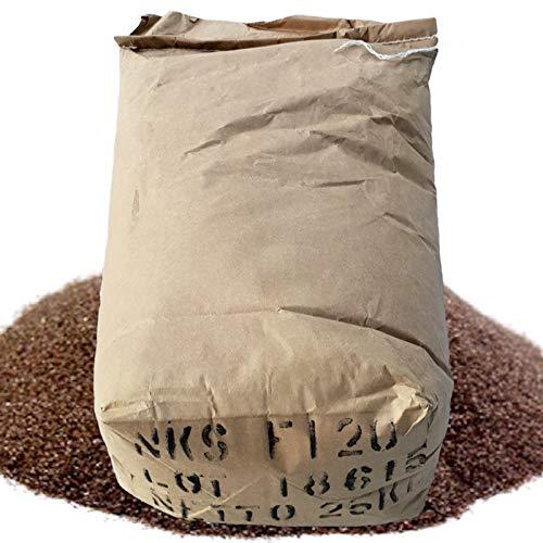 Lordsworld - Korund - 25 Kilogramm 40 Mesh Sandstrahlen Korund - Zum Schleifen von Metall - Entgraten - Mit Recycling Sandstrahlen - Sandstrahlflächen - Sandstrahlen Kabinen - Korund-40