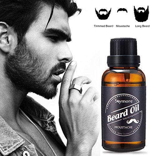 Skymore 30ml Beard Care Oil, 100% Pure Blend of Natural Ingredients, Beard Growth & Mustache Care Products, Beard Softener, Best Gift for Gentlemen,Father's Day