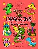 DRAGONS: Livre de coloriage pour les enfants de 4 à 8 ans. Plus de 40 dragons à colorier. Tantôt mignons, tantôt drôlement féroces. Design adapté à ... pour éviter tout transfert de couleurs.
