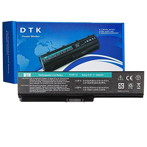 DTK PA3817U Portatile Batteria di Ricambio per Toshiba Pa3817u-1brs Pa3819u-1brs Satellite C600 L640 L650 L650d L655 L700 L745 L755d M640 M645 P745 P755 P775 Series 10.8V 5200mah